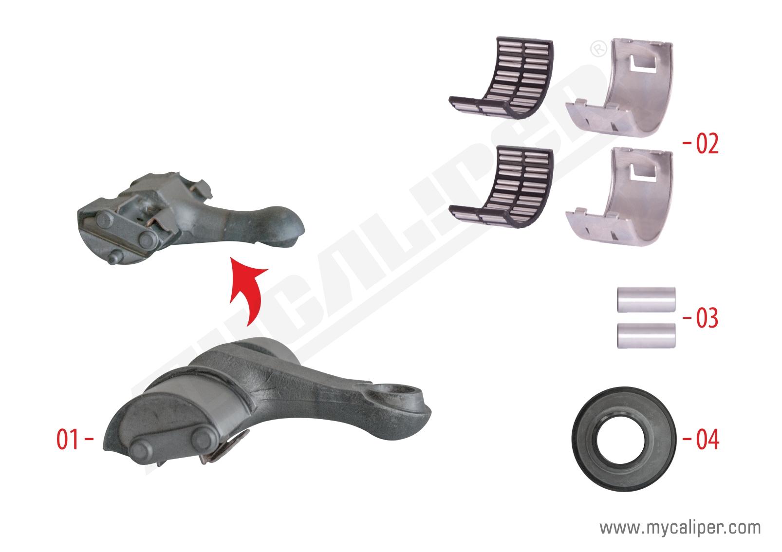 Caliper Lever Repair Kit (Axial - Left - Rear)