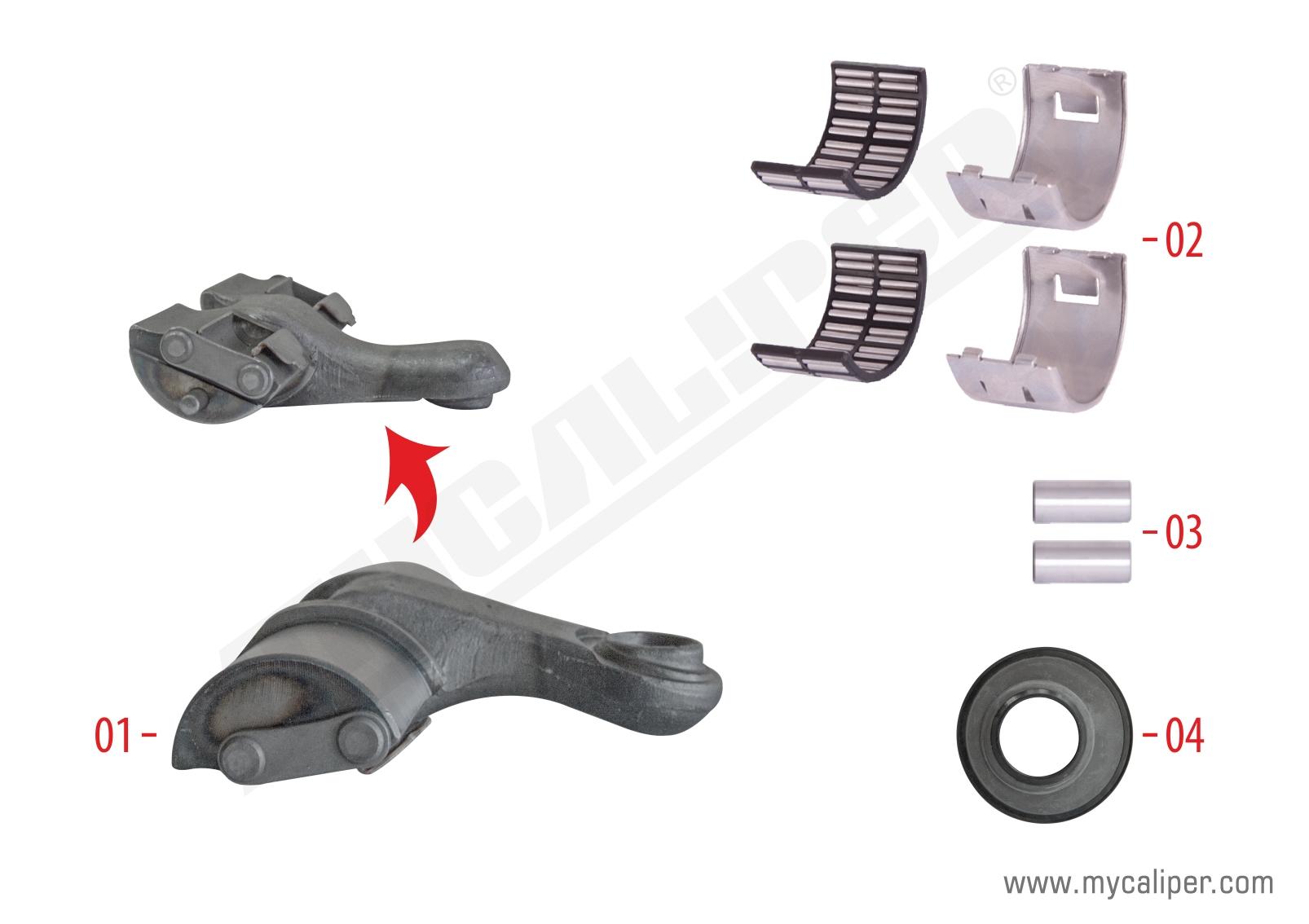 Caliper Lever Repair Kit ( Left )