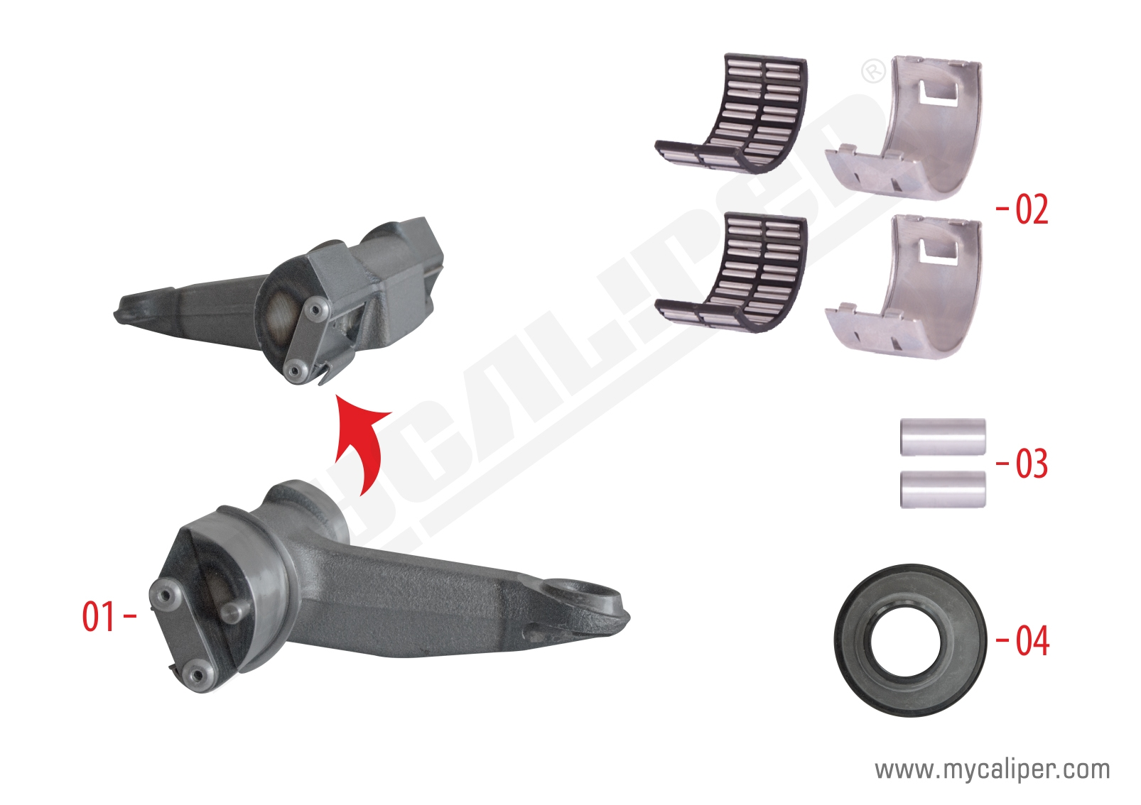 Caliper Lever Repair Kit (Radial L/R - Front)