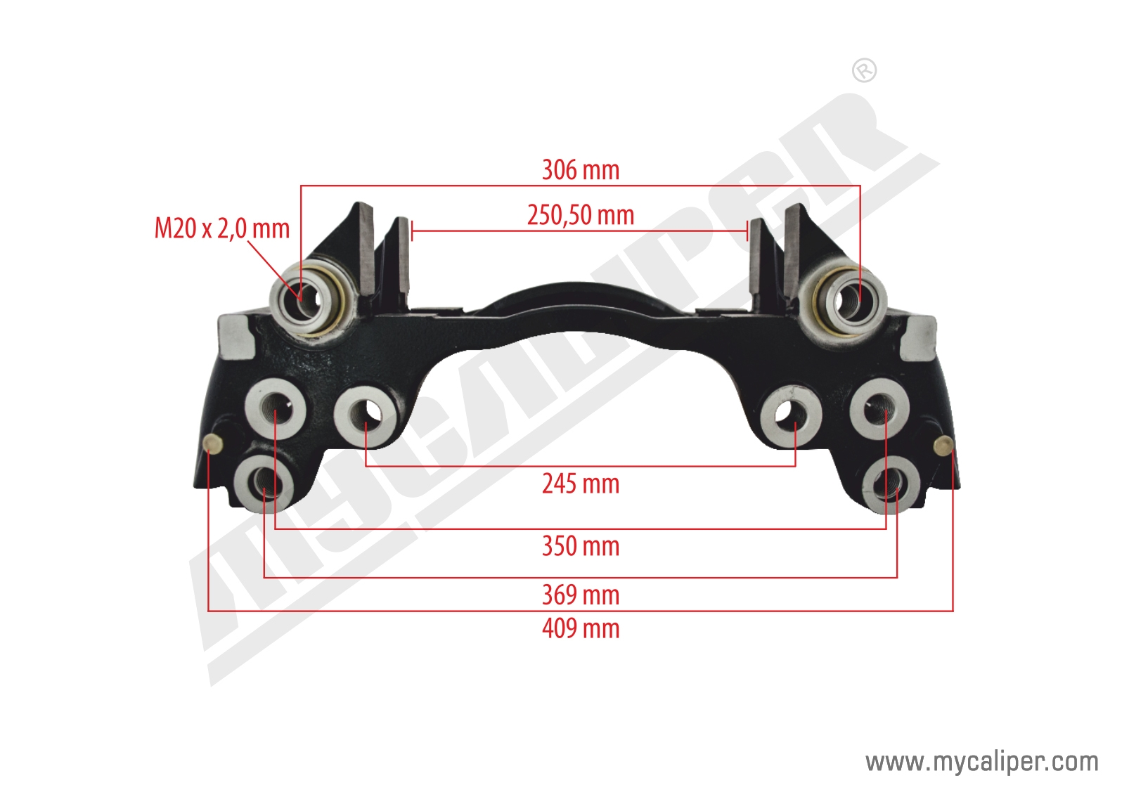 D DUCO TYPE 22,5 Caliper Carrier Right-Left