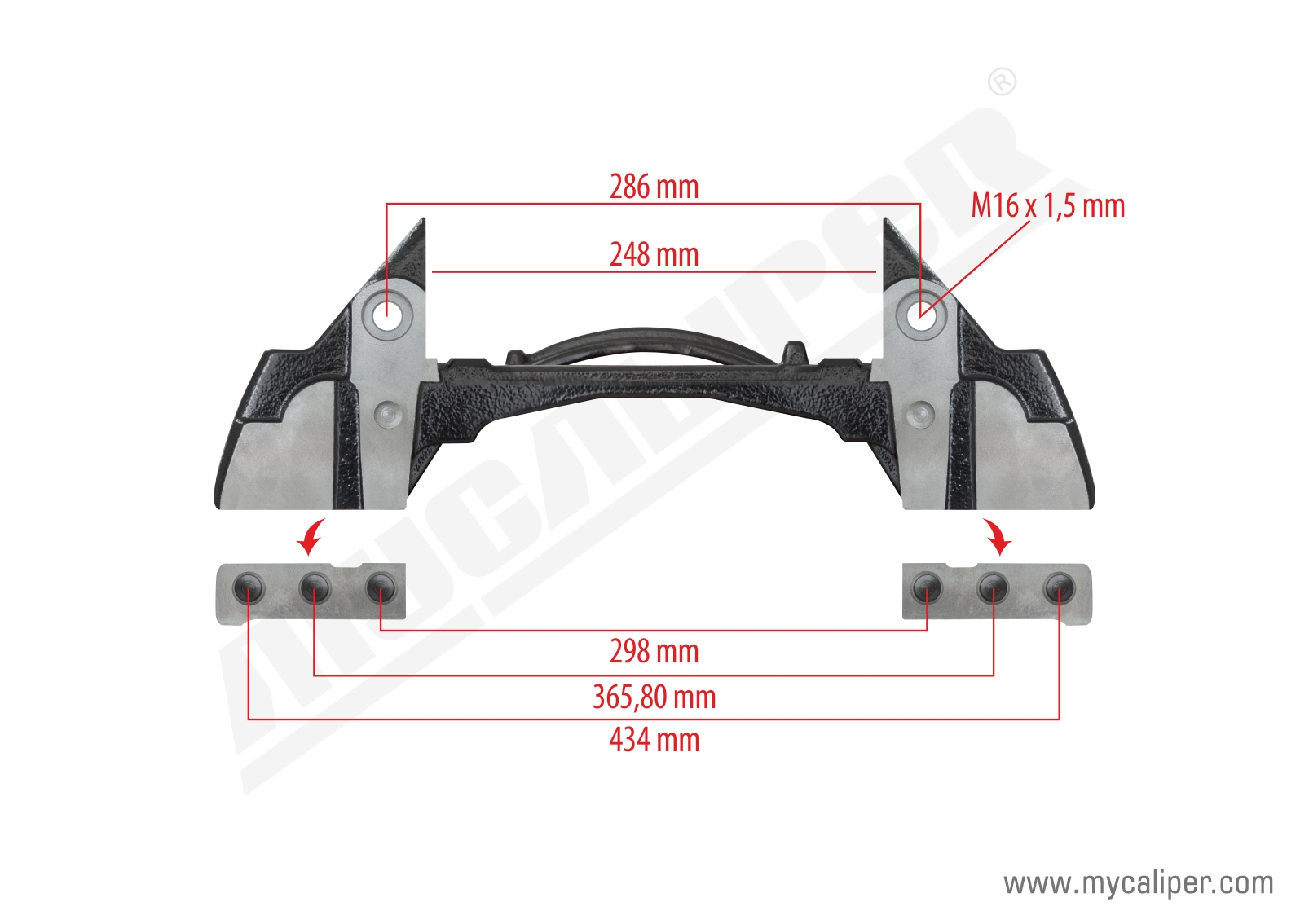 Knorr 22 Inch Bpw Type Caliper Carrier